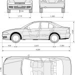 Mitsubishi Galant blueprint