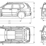 Nissan X-Trail blueprint