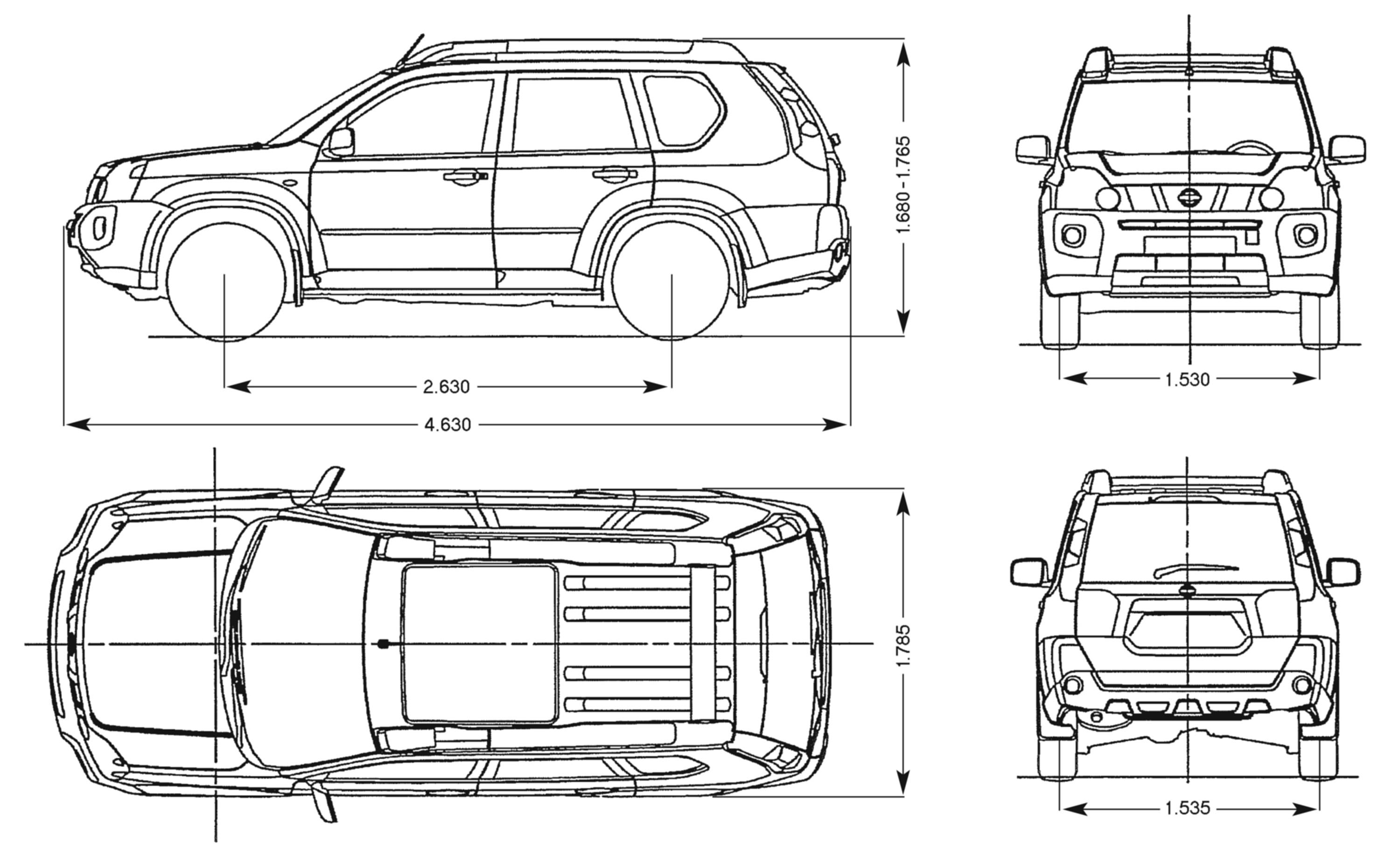 nissan x-trail 2007 blueprint