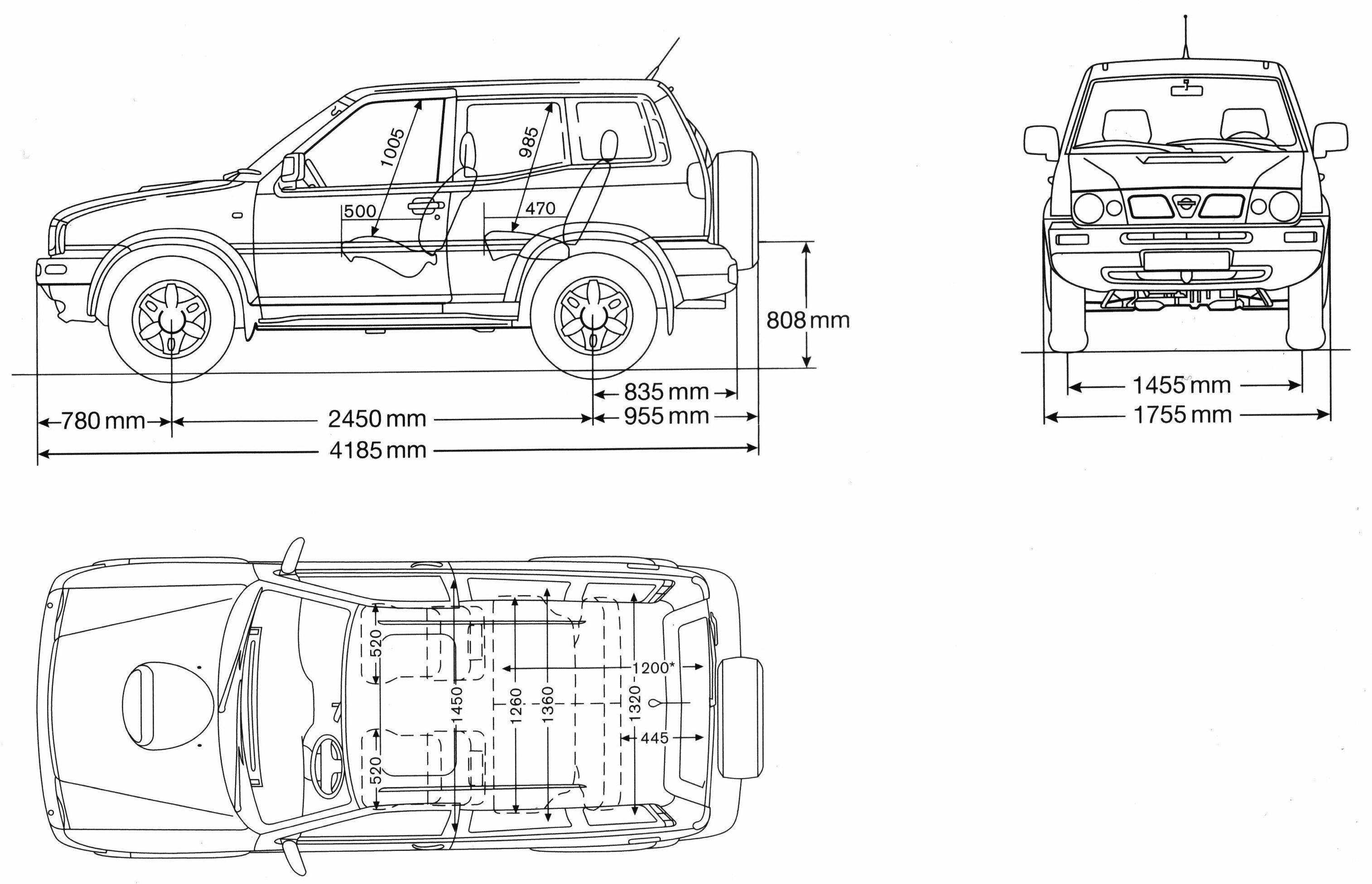 Nissan Terrano II blueprint