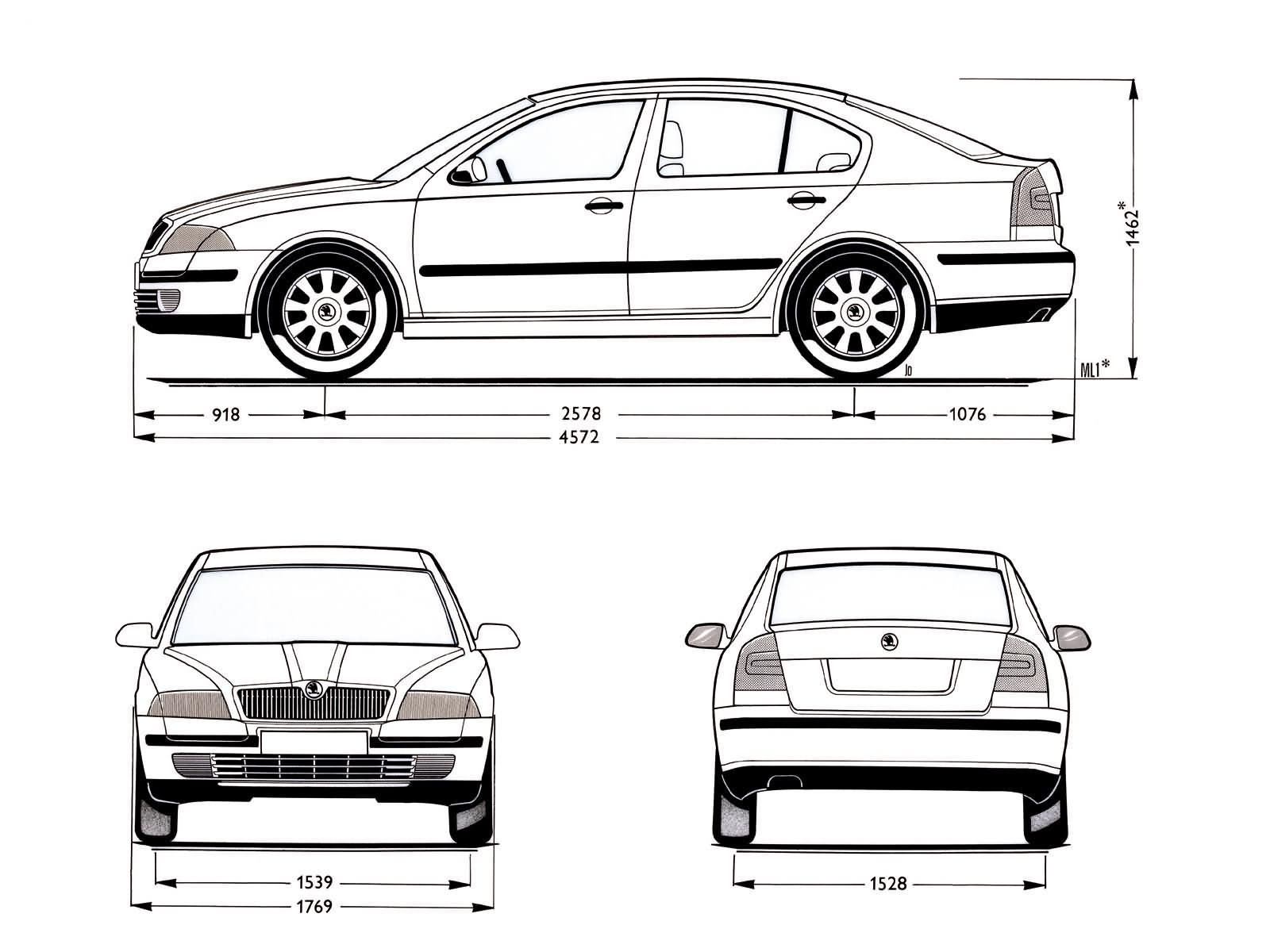 Skoda Octavia blueprint