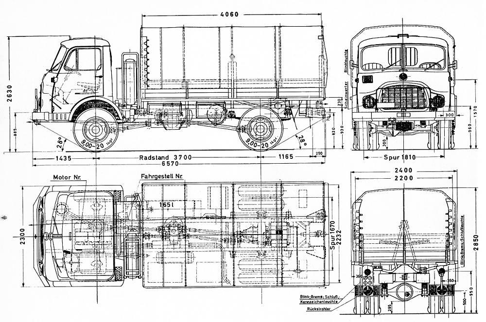 Steyr 680 M blueprint