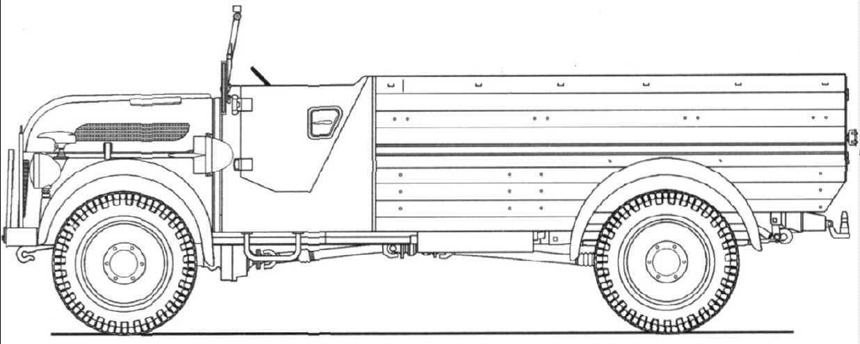 Steyr 1500A Kfz 15 blueprint