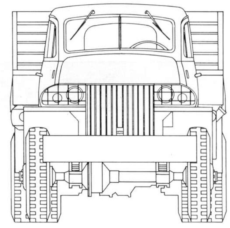 Studebaker US6 blueprint