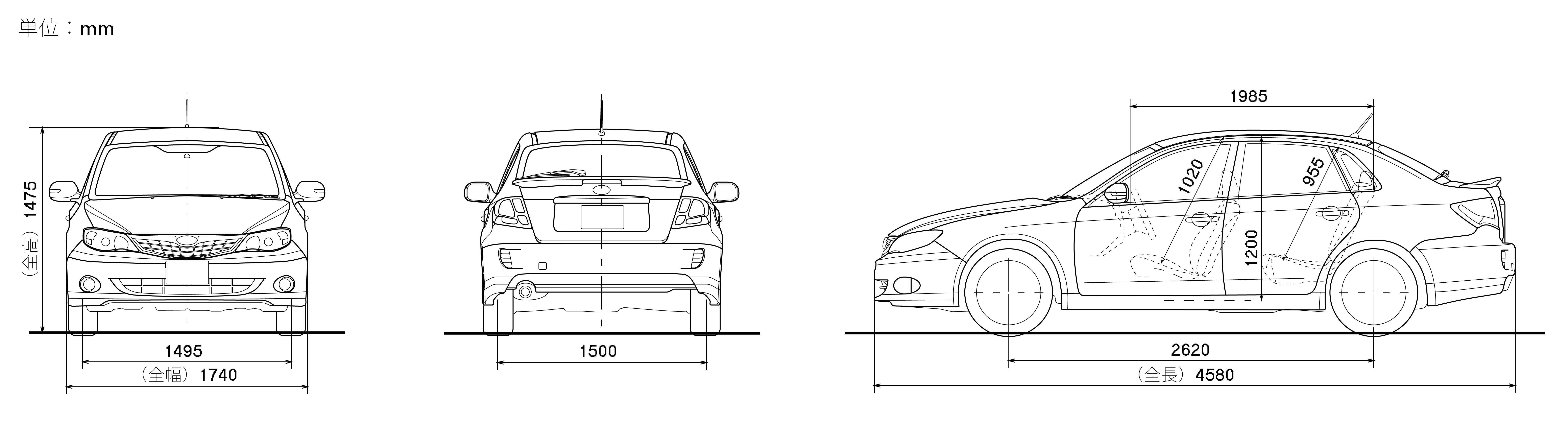 Subaru Impreza blueprint