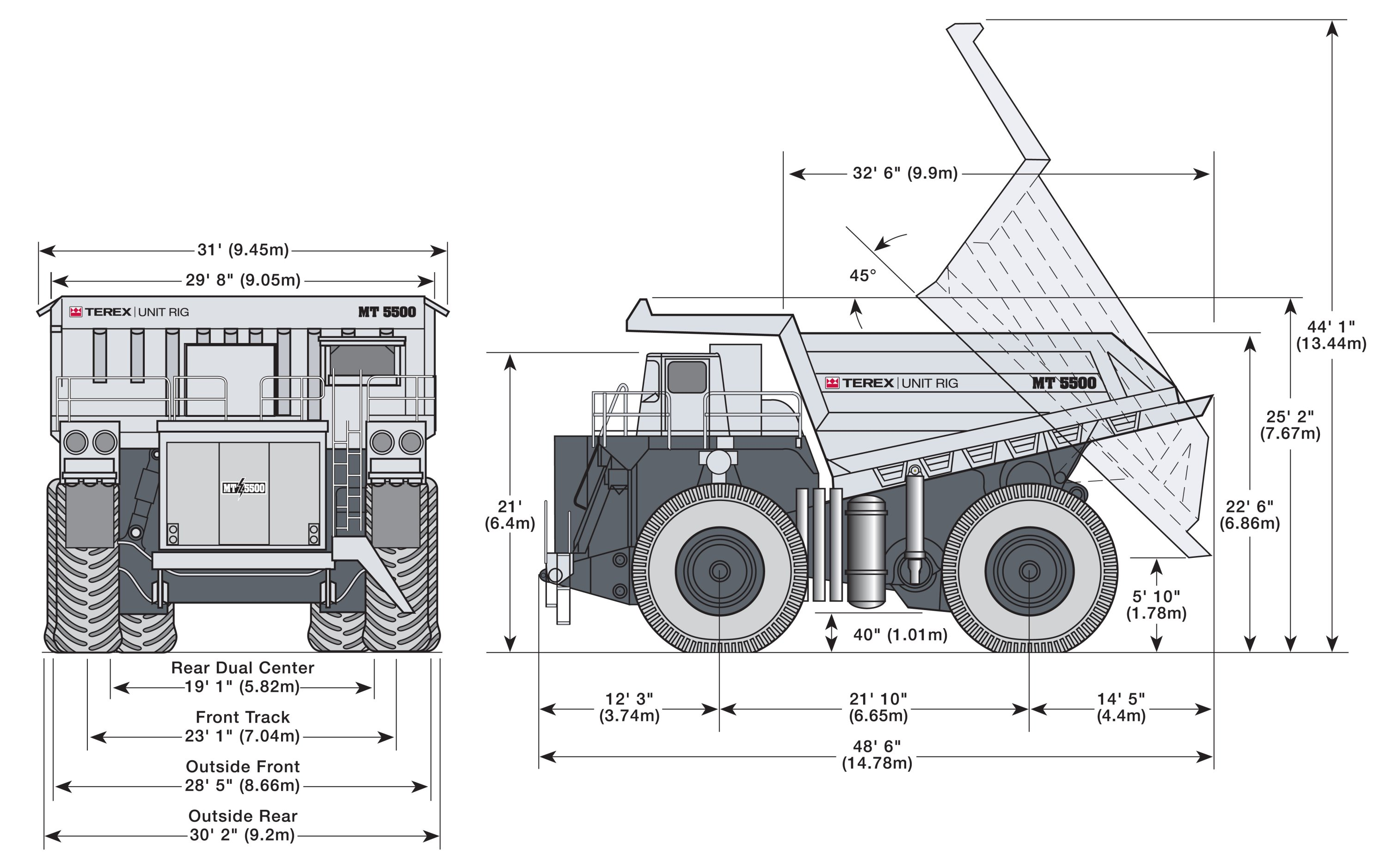Terex MT 5500 blueprint
