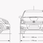 Toyota Corolla Verso blueprint