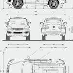 Volkswagen Touareg blueprint