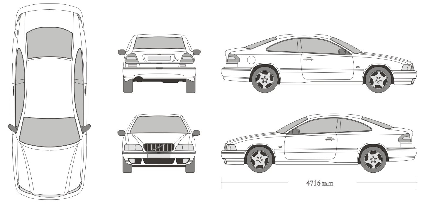 Volvo C70 2000 Blueprint Download Free Blueprint For 3d