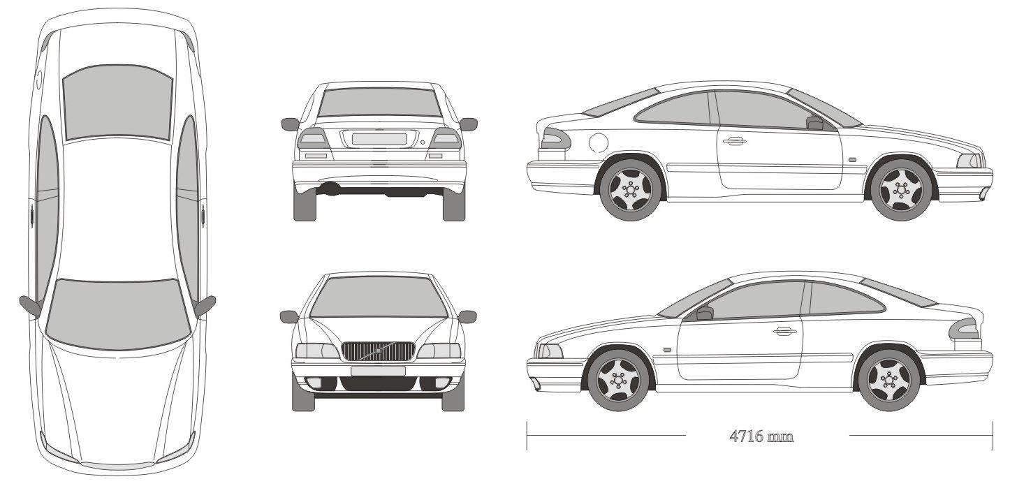 Volvo C70 blueprint