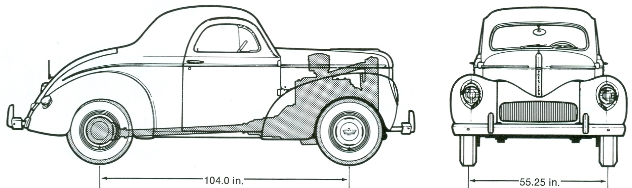 Willys Americar blueprint
