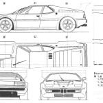 BMW M1 blueprint