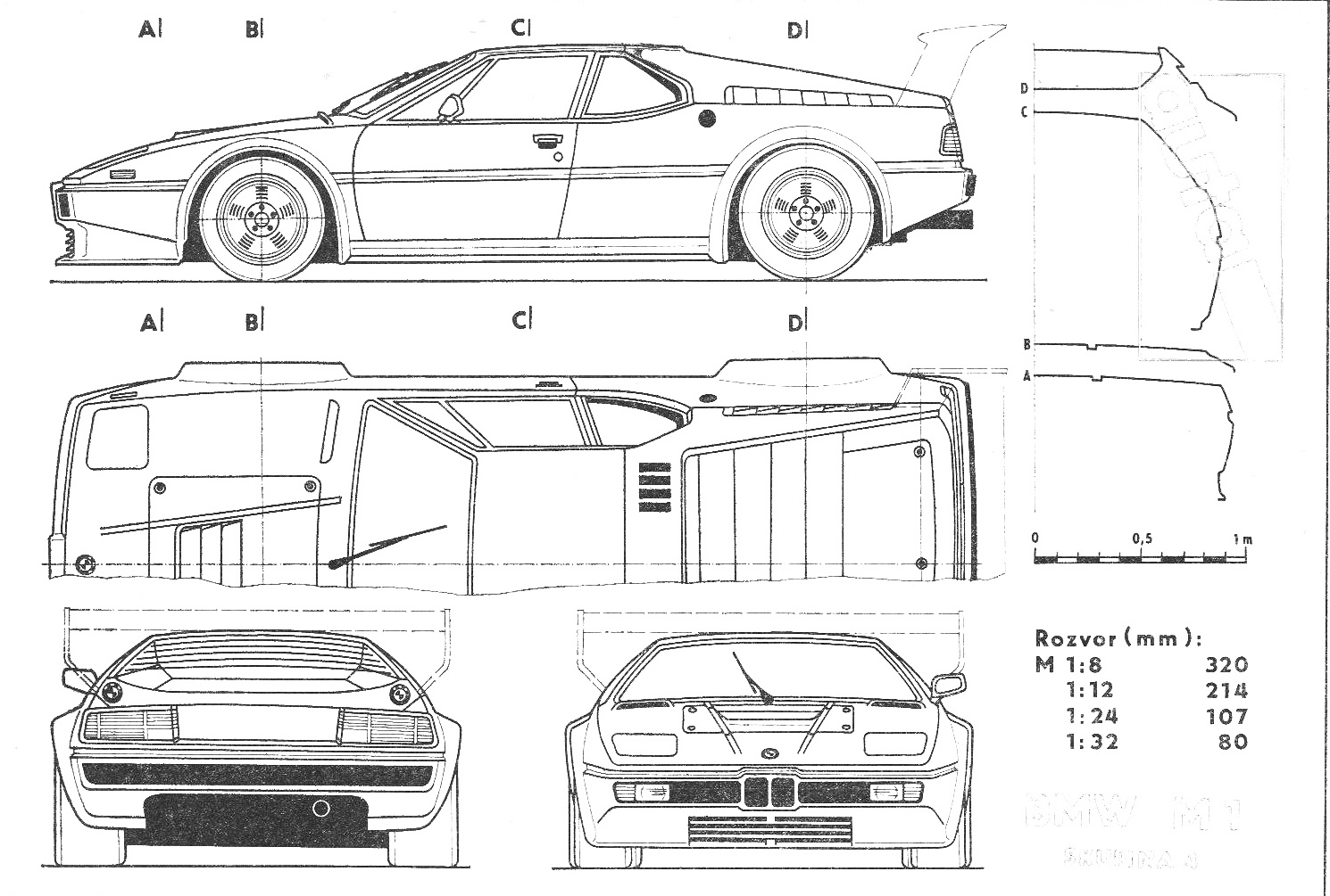 Bmw M1 Blueprint Download Free Blueprint For 3d Modeling