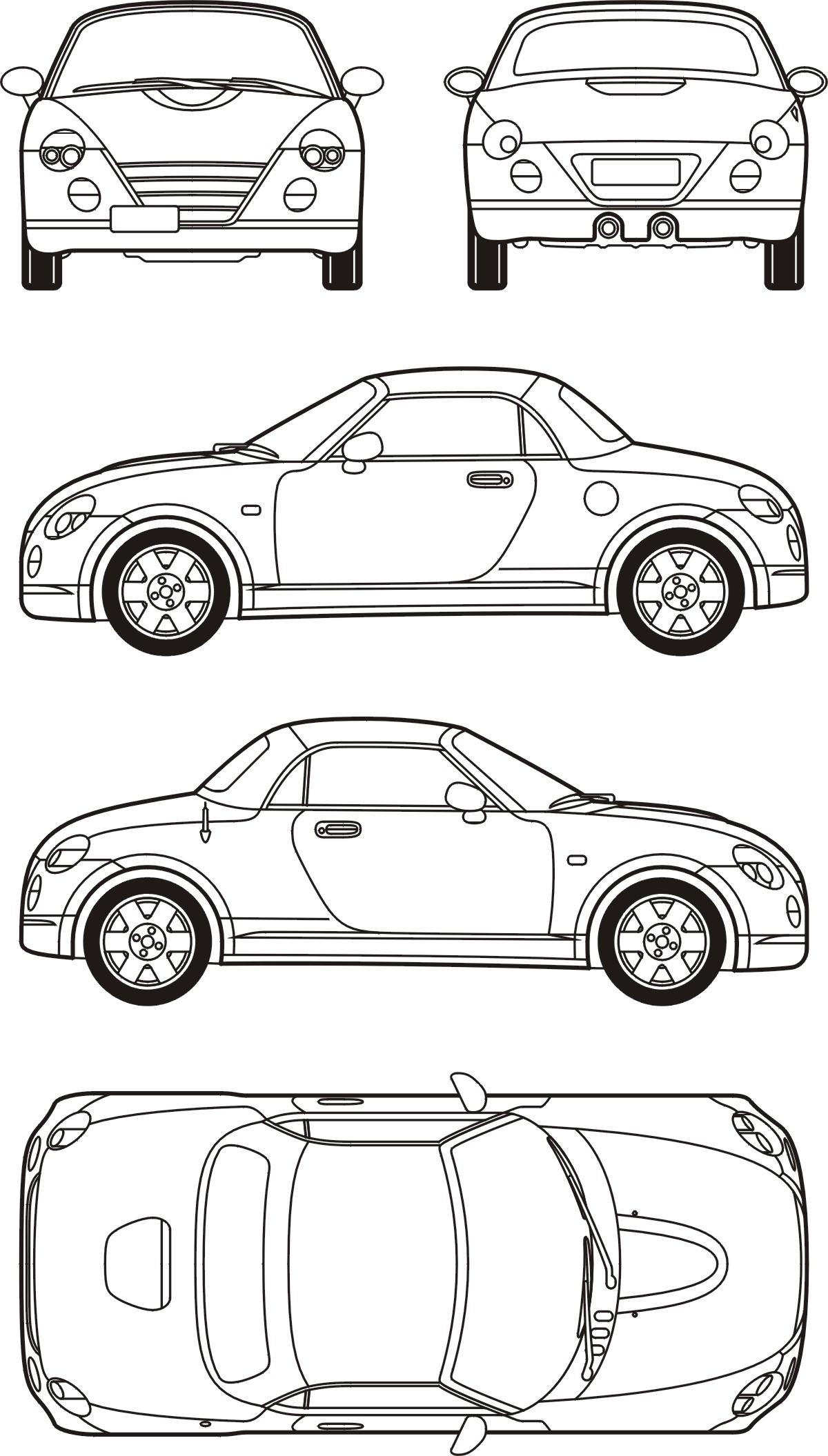 Daihatsu Copen blueprint
