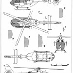 Eurocopter EC135 blueprint