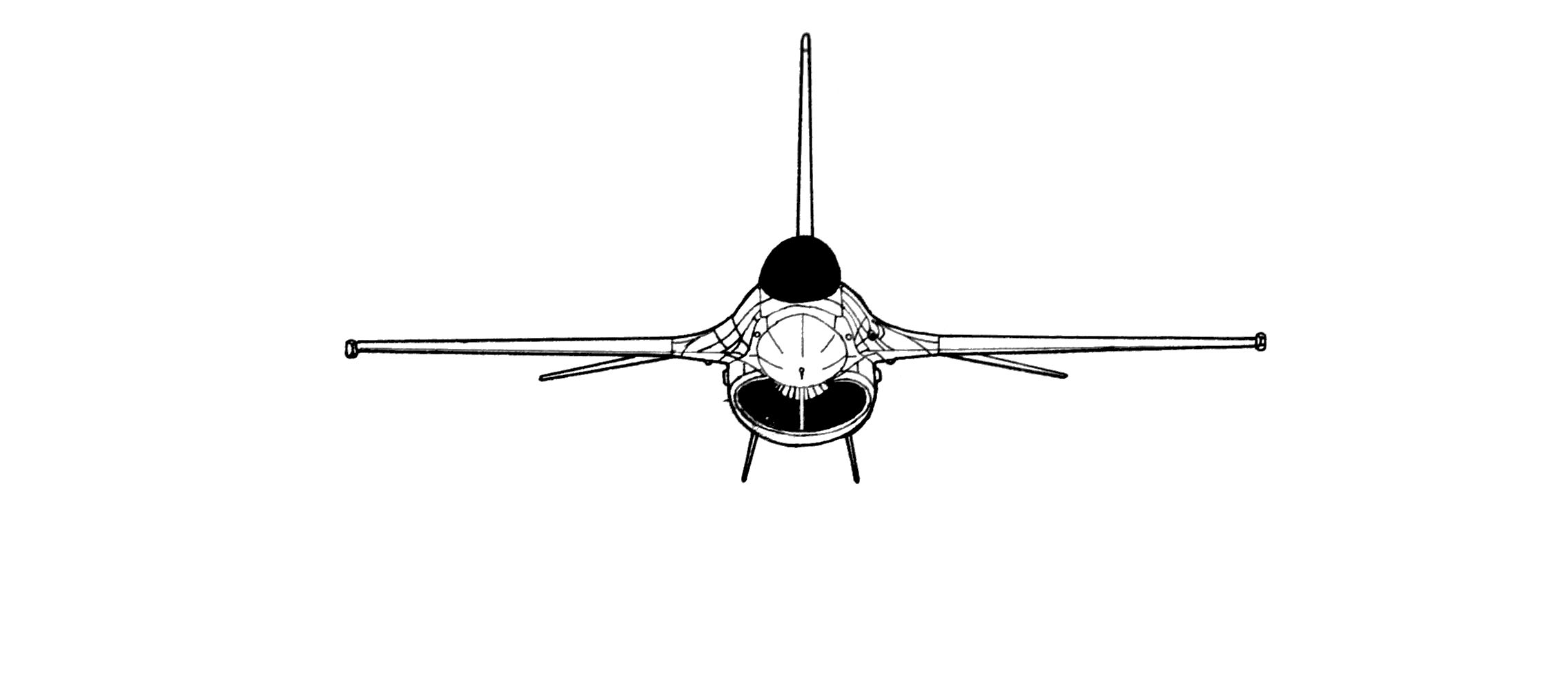 F-16 Fighting Falcon blueprint