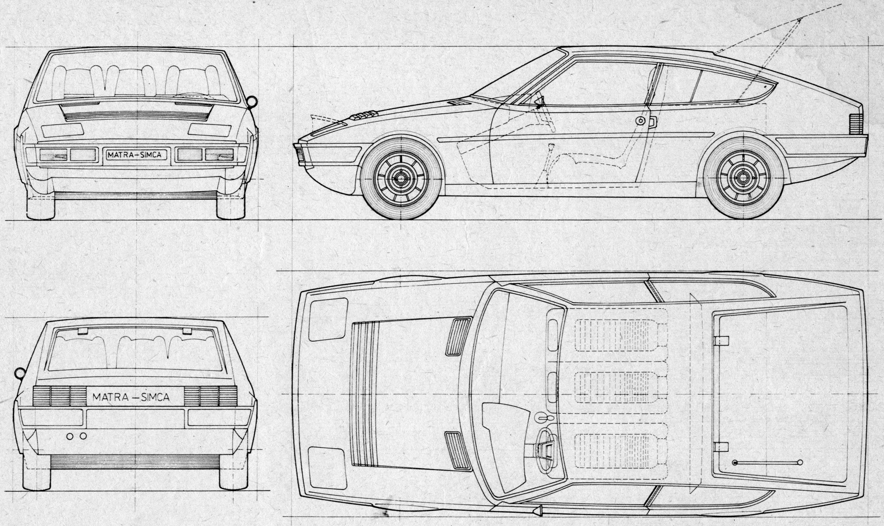 Matra Bagheera blueprint