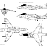 McDonnell Douglas AV-8B Harrier II blueprint