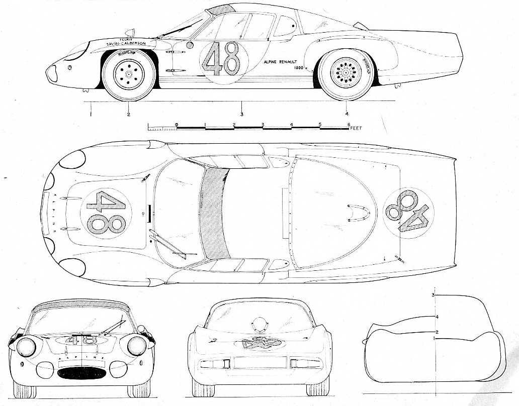 renault alpine lm blueprint