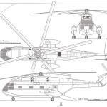 Aérospatiale SA 321 Super Frelon blueprint