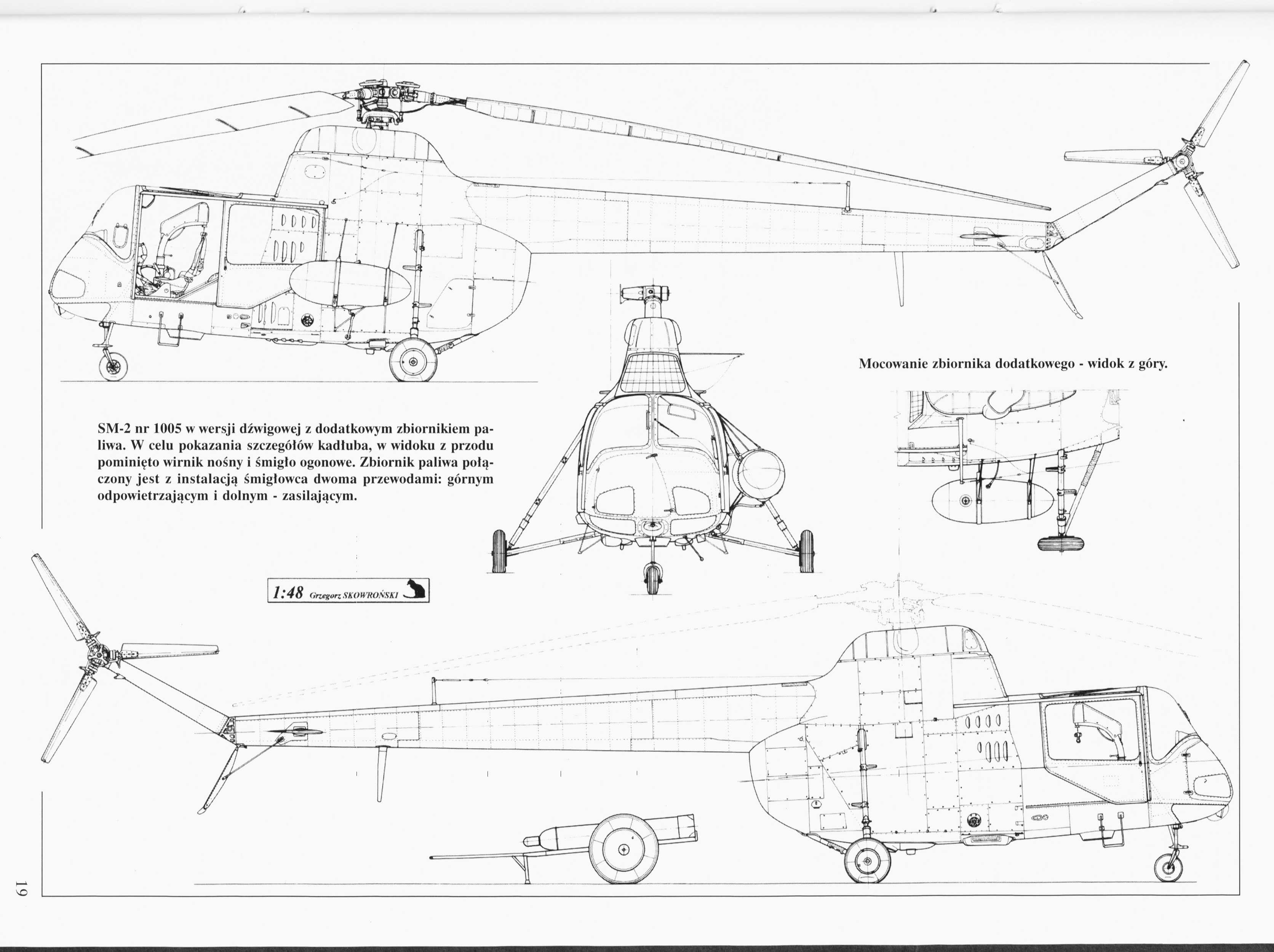 PZL SM-2 blueprint