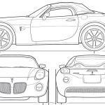 Pontiac Solstice blueprint