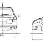 Subaru Exiga blueprint