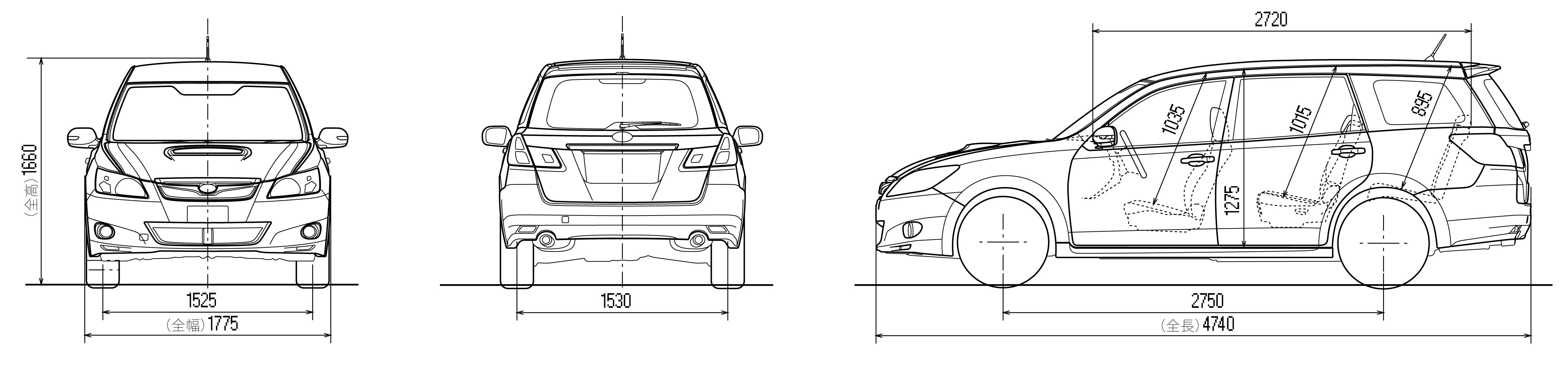 Subaru Exiga blueprint