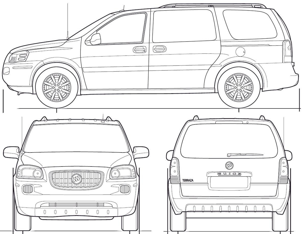 Buick Terraza blueprint