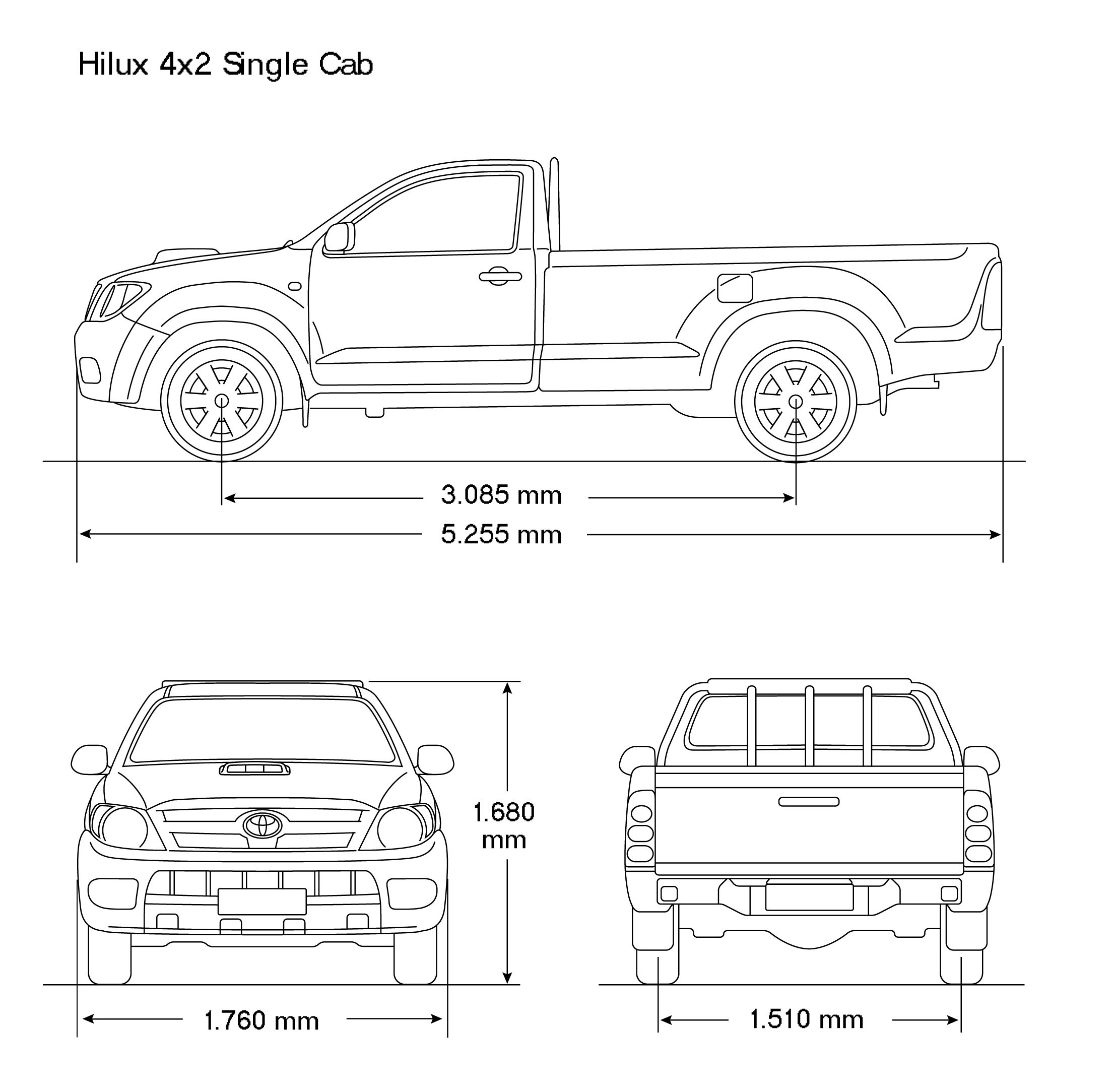 Toyota Hilux 2008 Blueprint Download Free Blueprint For