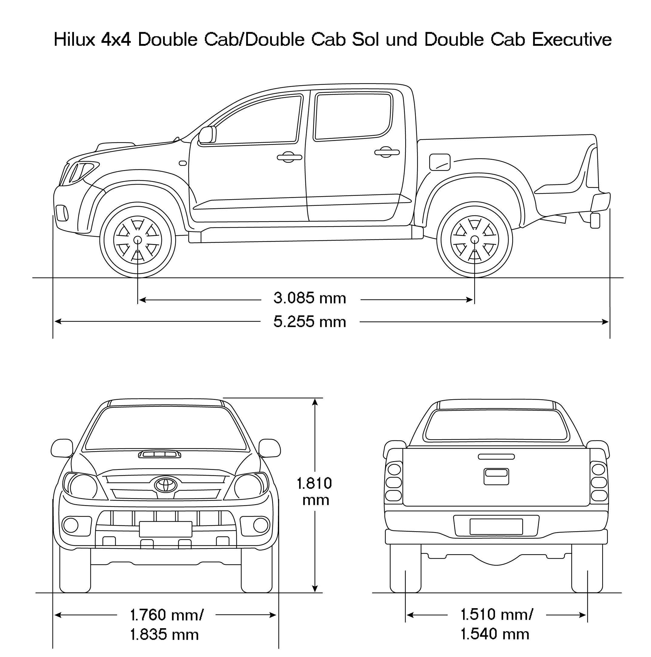 Toyota Tacoma Fuse Box Diagram 2015 Wiring Echo Hilux 2008 Blueprint Download Free For 3d Modeling 2011 2001