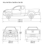 Toyota Hilux blueprint