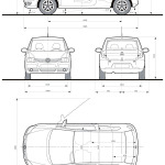 Volkswagen Fox blueprint