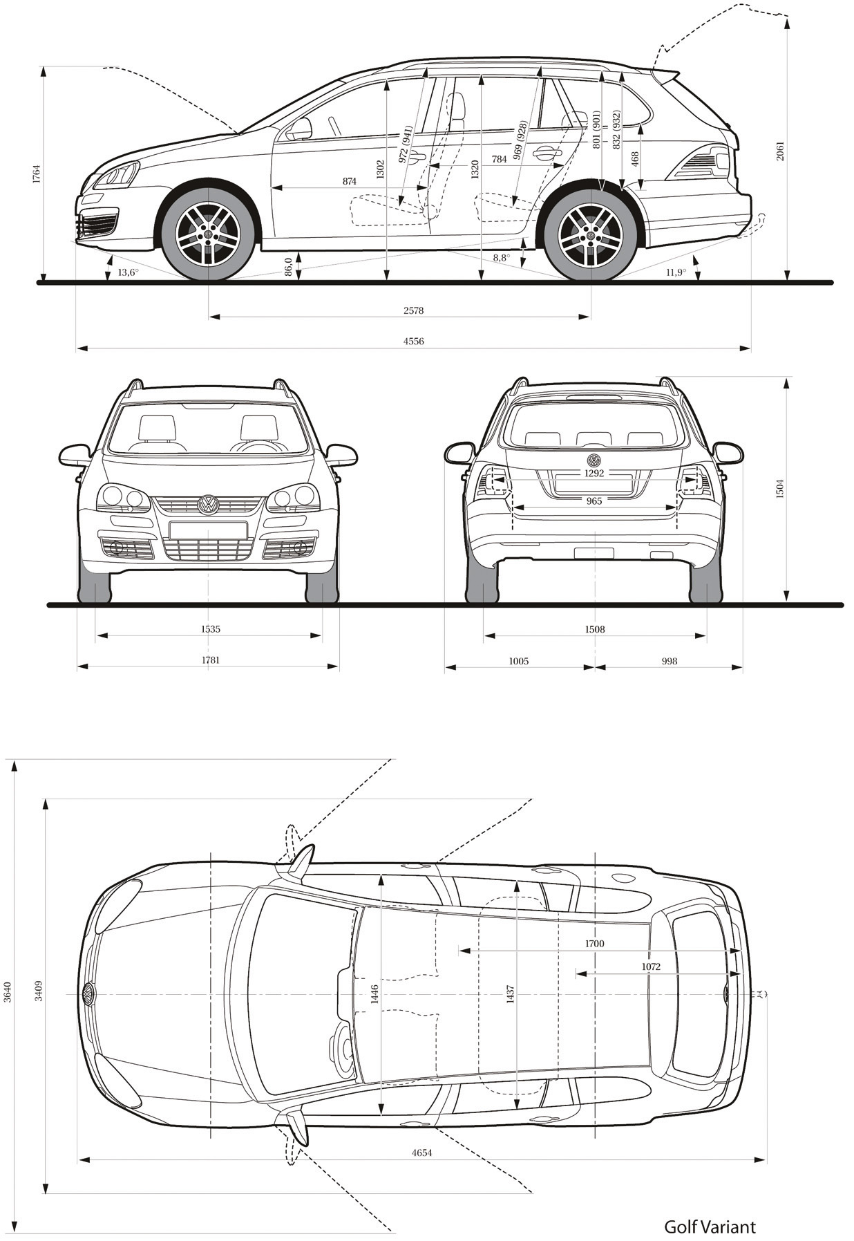 Volkswagen golf v blueprint download free blueprint for 3d modeling volkswagen golf v blueprint malvernweather Image collections