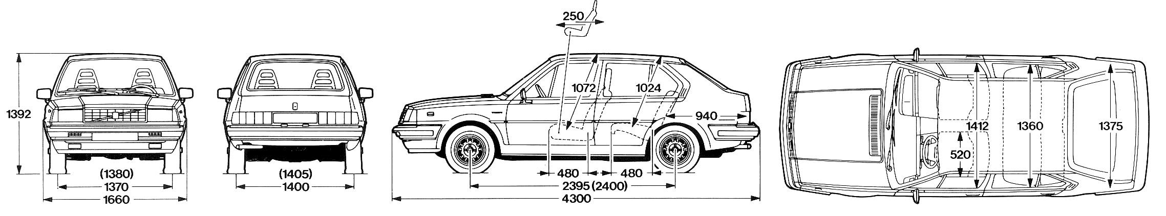 Volvo 345 blueprint