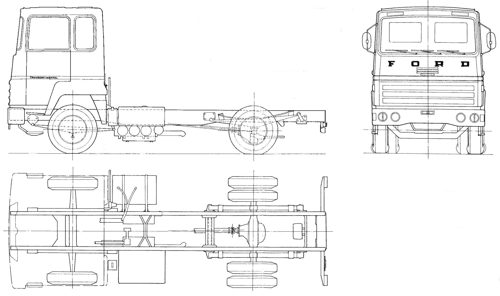 Ford Transcontinental blueprint
