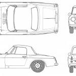 Datsun Fairlady 2000 blueprint