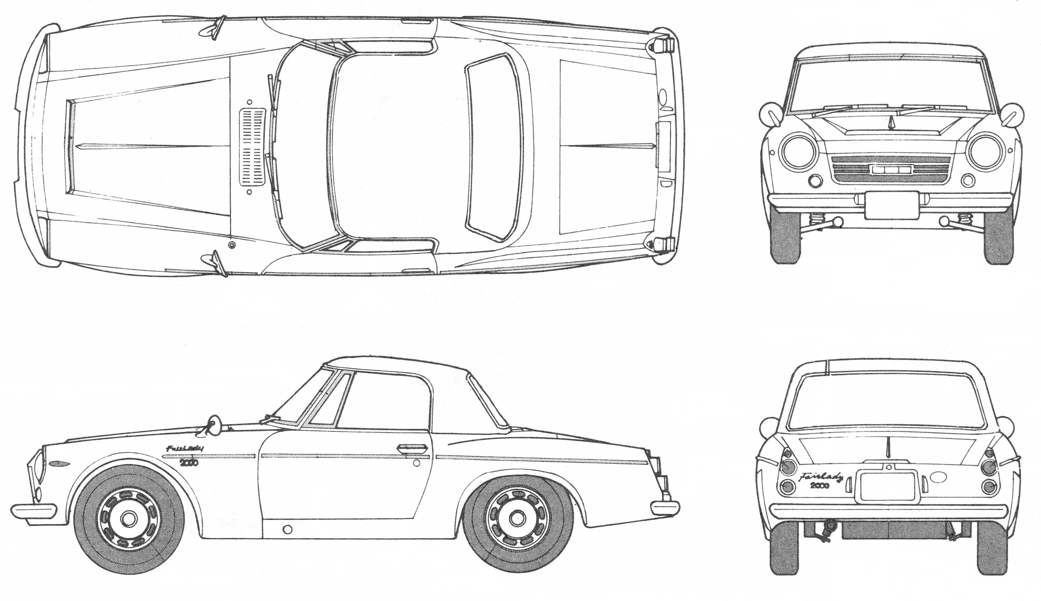 Datsun Fairlady 2000 blueprint