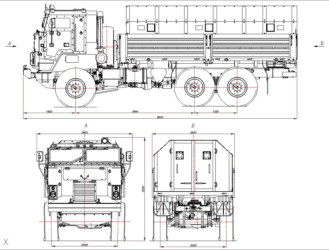 KamAZ 63501 bear blueprint