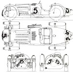 Talbot Lago Le Mans blueprint