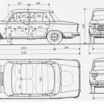 Fiat 1300 blueprint