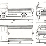 Fiat 1100T blueprint