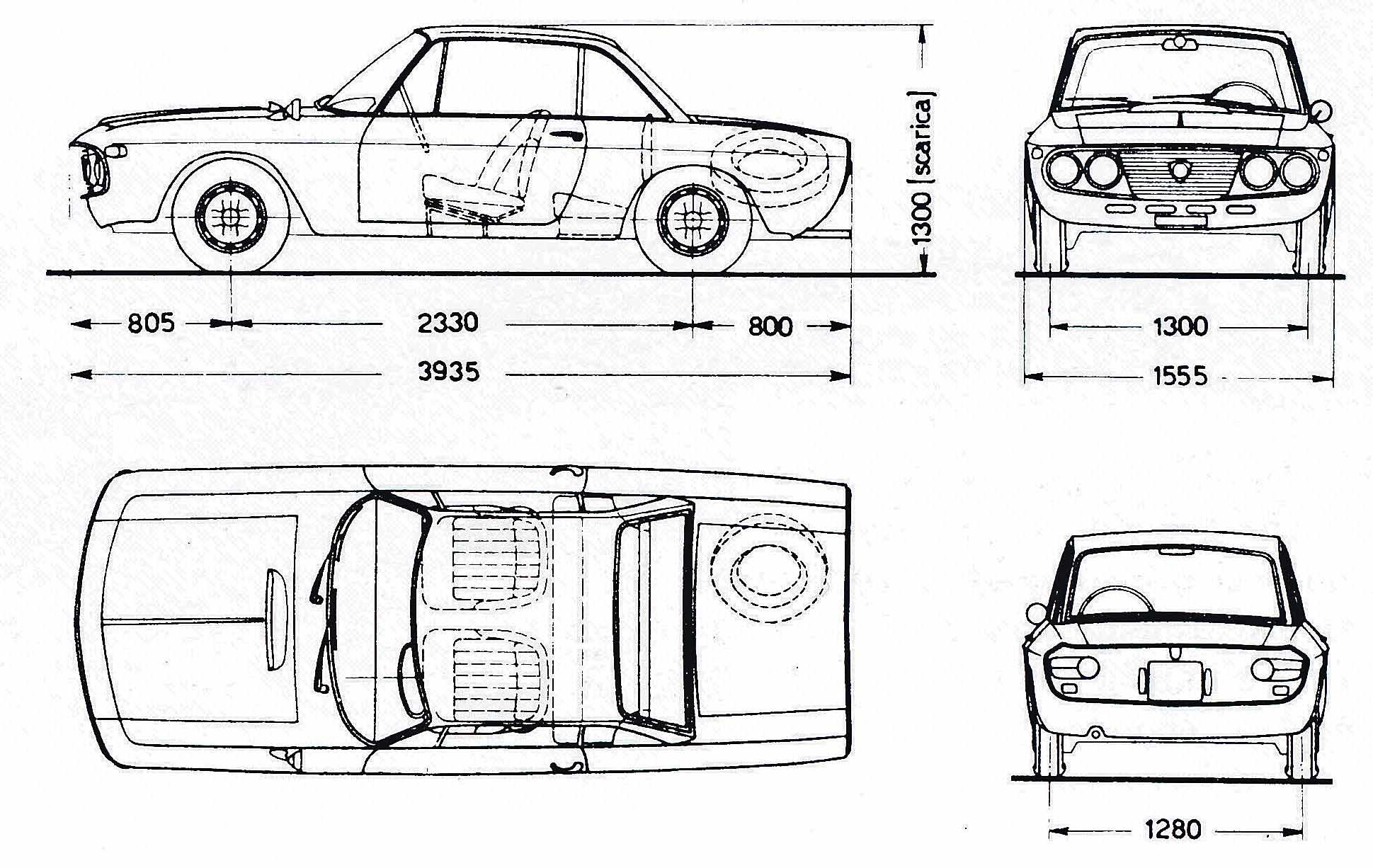 Lancia Fulvia blueprint