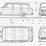 Fiat 1100R blueprint