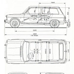 Simca 1100 blueprint