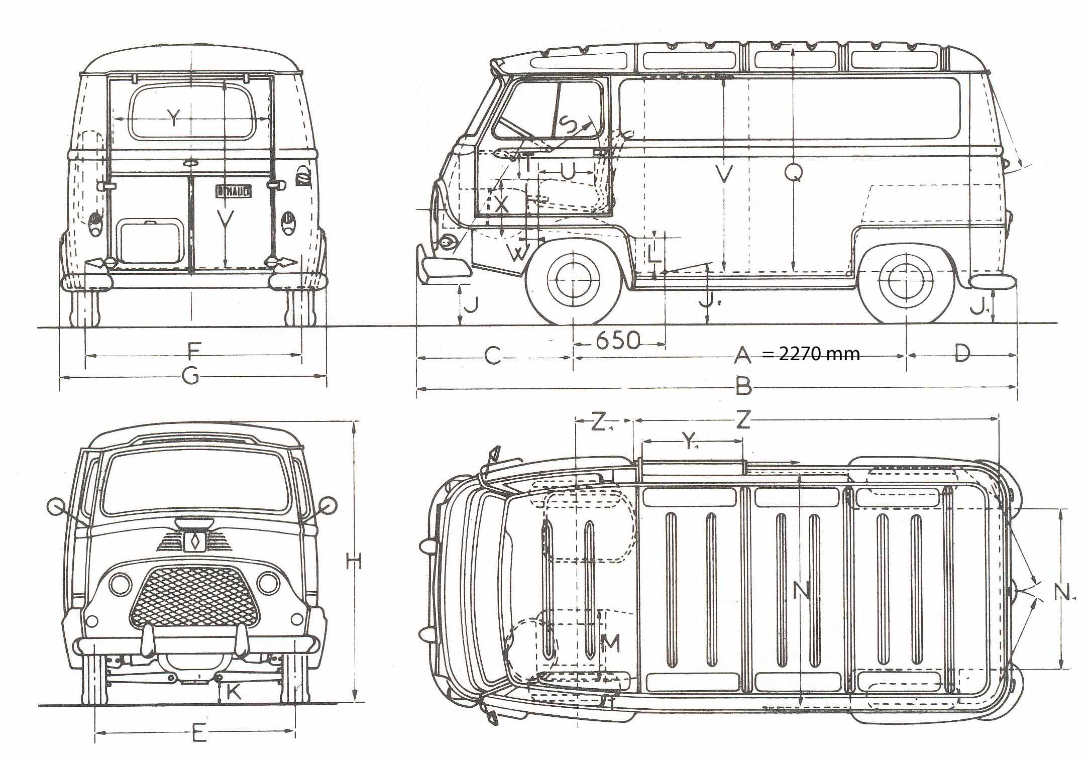 Renault Estafette blueprint