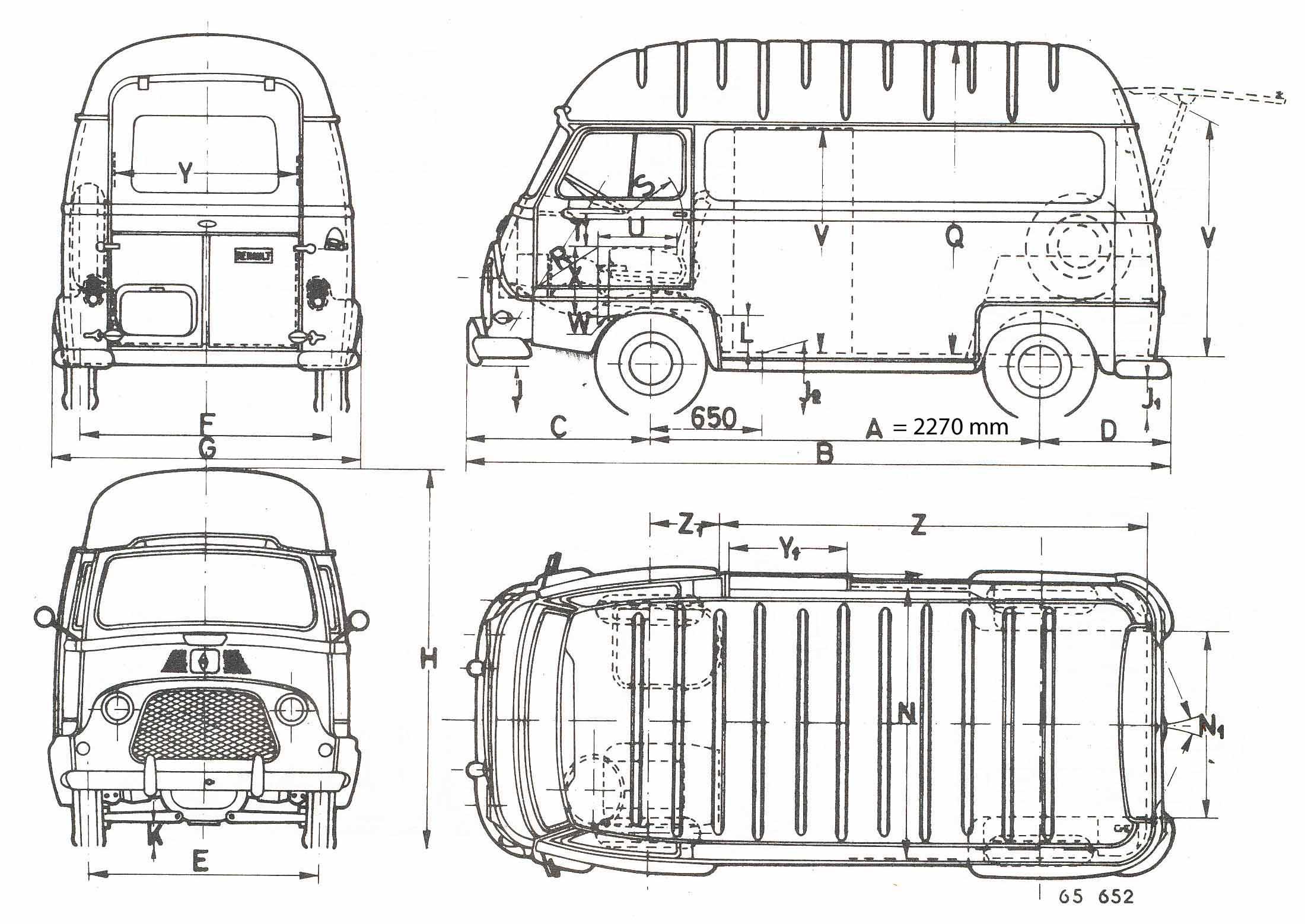 renault estafette 1967 blueprint