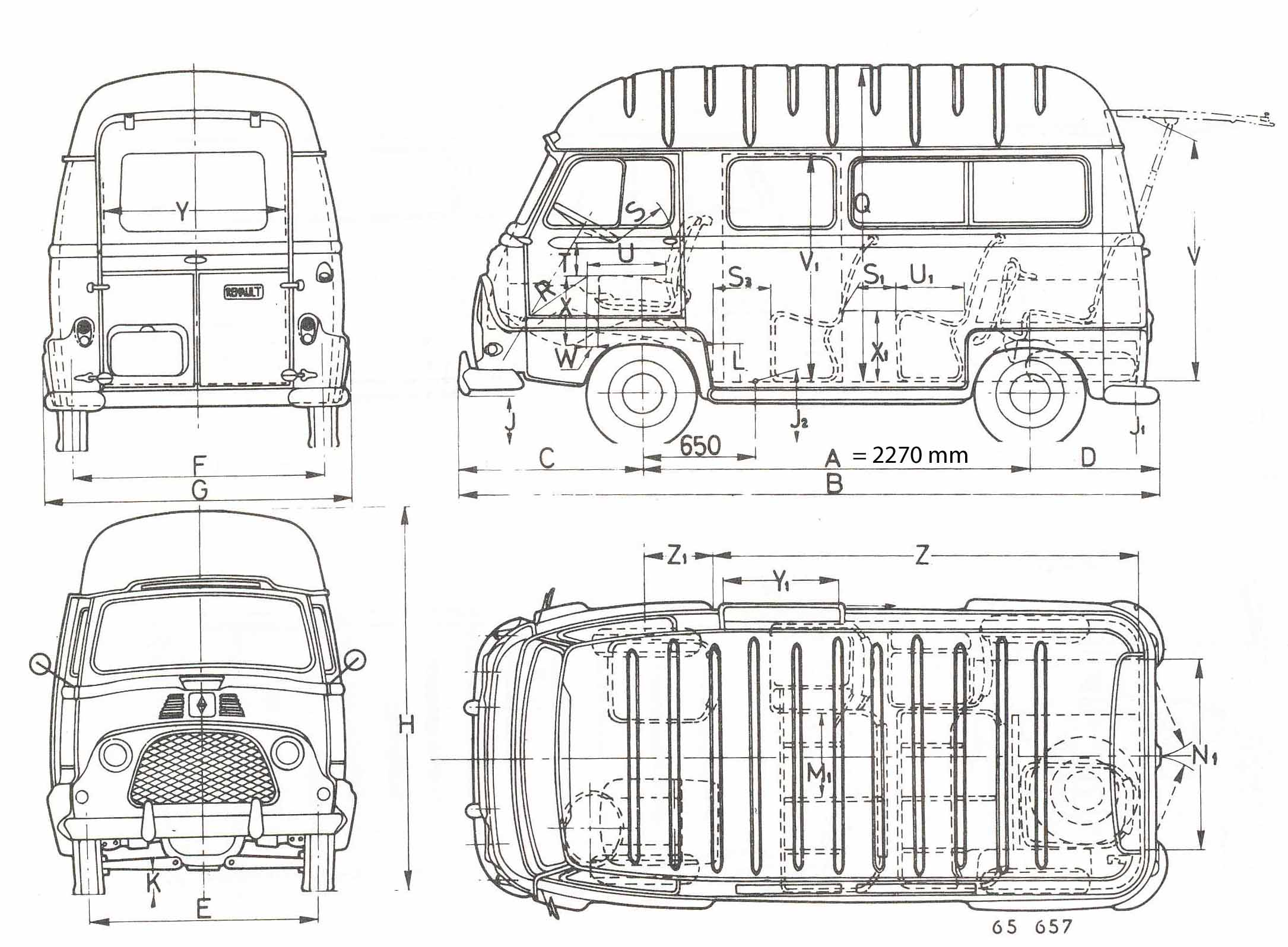 Renault Estafette 1967 Blueprint Download Free Blueprint