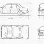Peugeot 305 blueprint