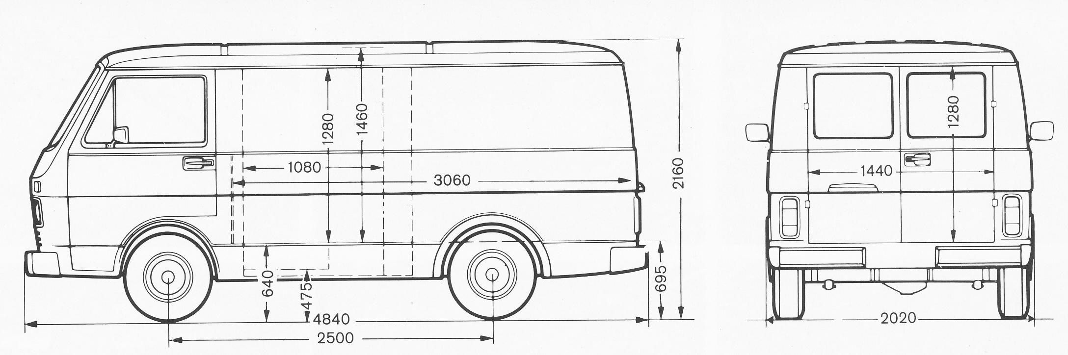 Volkswagen LT blueprint